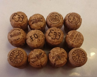 12 CHAMPAGNE corks VARIOUS brands USED