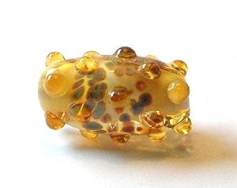 Topaz/Brown Lampwork Focal Bead - Handmade Lampwork Beads - Art Bead