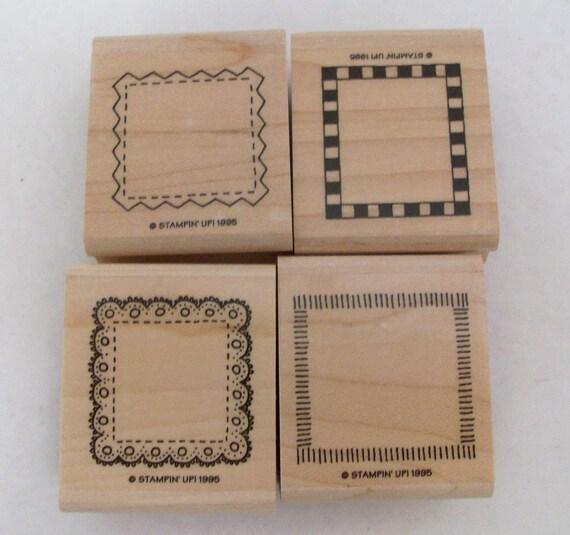 Mini Borders Rubber Stamp Scrapbook Stamp Set Lace