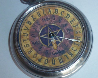 Vintage Occult Ouiji Fortune Pocket Watch Game wiccan Witchcraft