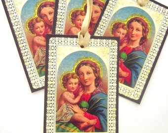 Religious Gift Tag Handmade Holiday Gift Tag