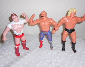 Titan Sports Figurines Rowdy Roddy Piper, Iron Shiek, Greg Valentine Set of 3
