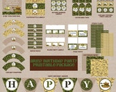 Army Theme Printable Party Package - Digital Printable File - Printable Army Birthday Party - Camo Birthday Party