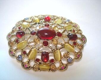Rhinestone Jewelry Brooch