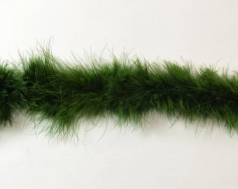 2 yards Marabou Boa- Dark Moss, 24g