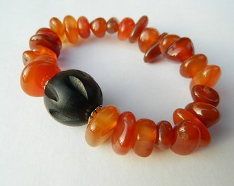 Stackable Carnelian Fashion Bracelet: Love, Relationship Harmony and Emotional Healing