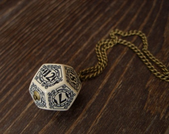 D12 steampunk dice pendant steam punk necklace steampunk jewelry dnd rpg geek dungeons and dragons game gamer geeky polyhedral toothed bar