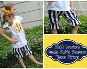 INSTANT Download SIG Amalie Ruffle Bloomers and Anchor Applique Pattern eBook - Size 6 to 14 Girl, Tween