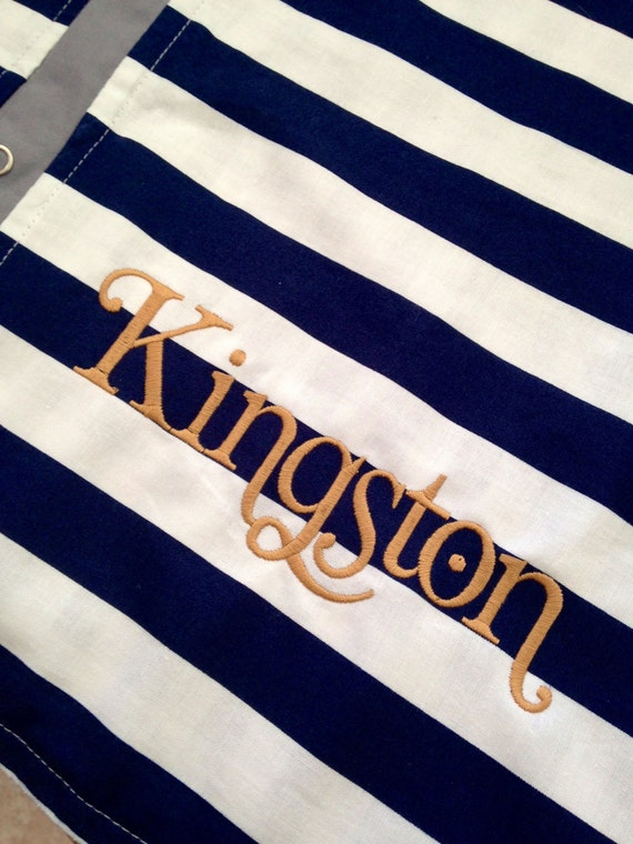Profesional Embroidery YOU pick font and color / ADD a name
