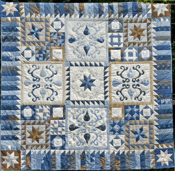 Blueberry Botanical Quilt Block of the Month Border