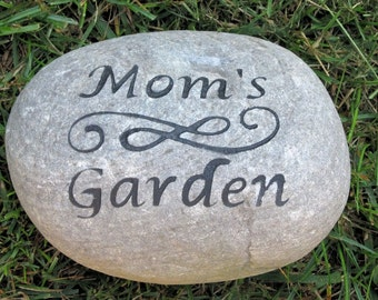 Garden Stone for Mom or Dad Perfect for Mother's Day or Father's Day Gifts 8-9 Inch Garden Stone