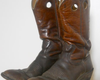 1970s Hand Made Leather Boots Mens Sz 12
