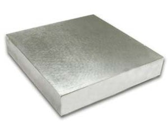 4x4x1/2 inch Steel Bench Block - Solid Steel
