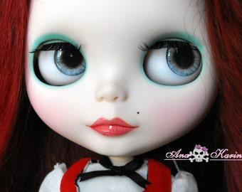 Blythe eye chips OOAK REALISTIC custom set D12, by Ana Karina. UV laminated