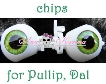 New Soft Resin OOAK custom Pullip, Dal, Taeyang eye chips set F18, by Ana Karina