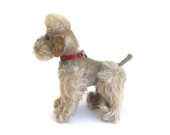 original  vintage steiff dog   ...   snobby poodle looking for a new home  ...  pudel