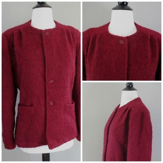 Vintage Carol Little 70s Burgundy Jacket