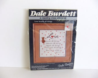 Vintage Cross Stitch Kit, Dale Burdett, Love