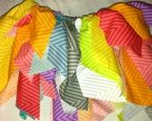Multi-colored Chevron Scrappy Tutu// Rag Skirt
