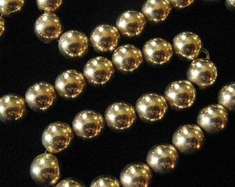 7 mm Gold Filled Beads Chain Strung Strand