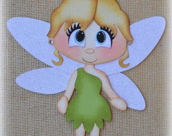Disney Tinker Bell Fairies Premade Scrapbooking Embellishment Paper Piecing