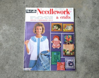 Vintage Magazine McCalls Needlework and Crafts Special Embroidery Issue Spring Summer 1965 Sewing Embroidery Knit Crochet