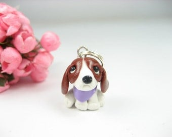 Basset Hound Necklace dog jewelry, miniature animal dog, Basset Hound gifts jewelry, dog necklace, womens gift dog lovers, polymer clay