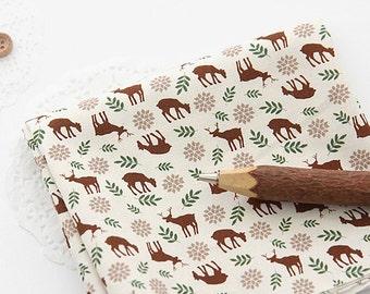 Lovely Brown Deer on Cotton, U161