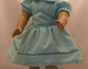 Mint Green Easter dress fits American Girl and other 18 inch dolls