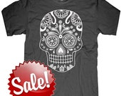 Mens Day of the Dead t shirt ----Skull ---- Multiple color options