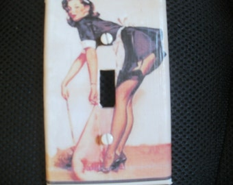 Pin Up Girl Maid Switch Plate Cover