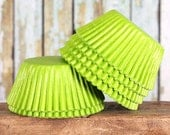 Lime Cupcake Liners, Bright Lime Cupcake Liners, Party Cupcake Liners, Lime Wedding Cupcake Liners, Muffin Cups, Cupcake Cases (50)