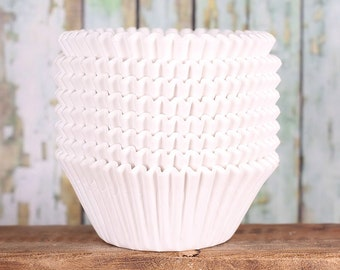 Jumbo White Cupcake Liners, Texas Size Muffin Cups, Jumbo Cupcake Liners, Jumbo Muffin Liners, Jumbo Baking Cups, Muffin Cases (50)