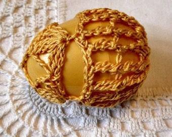 Crochet Lace Covered Plastic Egg