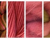 Hand Dyed Samples of Merino Wool DK Sport Weight Yarn in Prickly Pear