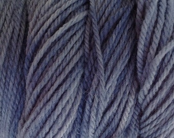 Storm Gray Hand Dyed Merino Wool Worsted Weight