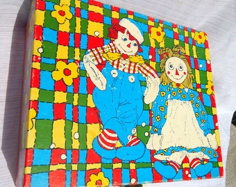 Vintage 1970s Raggedy Ann and Andy Toy  Case