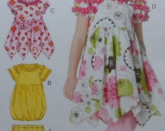 Girls Dress and Leggings Sewing Pattern UNCUT McCalls M6272 Sizes 6-8