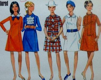 Vintage A-Line Dress Sewing Pattern UNCUT Butterick 5022 Size 12