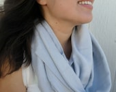 Steel Gray Light and Drapey Cashmere Silk Pashmina Infinity Scarf -  by Tejidos on Etsy A Great Fall  Accessory