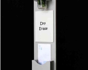 Mail Organizer - Mail Holder - Letter Holder - Mail and Key Holder - Mail Sorter -Key Hooks - Dry Erase