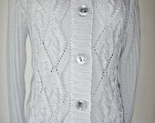 Silver cotton blend cardigan no. 237
