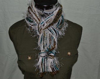 Multicolor Women's Fashion Scarf with greens and browns