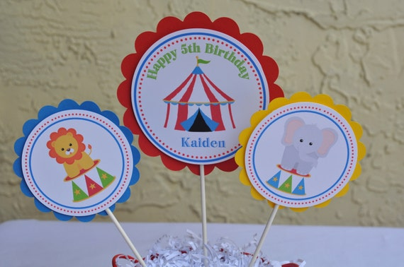 Carnival Themed, Centerpieces Set of 3