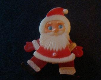 Vintage Santa Pin Brooch