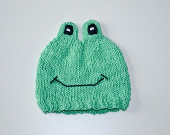 Knit Frog Baby Hat Pattern