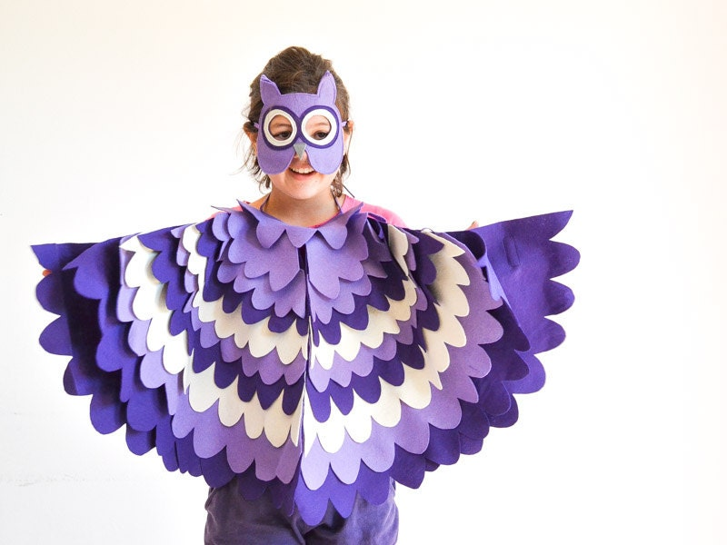 Kids Owl Costume Children Bird Wings and Mask Dress up Toy