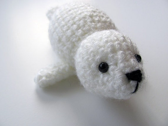 Crochet Amigurumi Seal : Crochet PATTERN PDF Amigurumi Seal Baby baby seal by MevvSan