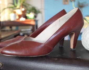 Red Cross Shoes Burgundy Heel S 7.5