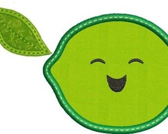 Happy Fruit LIME Applique
